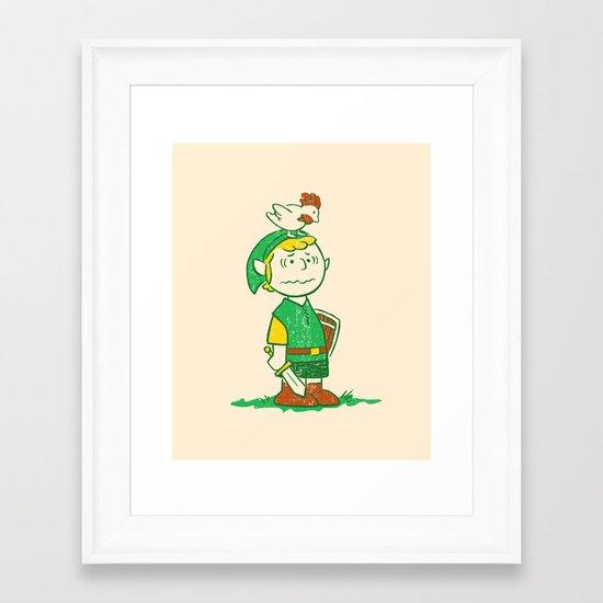 A Hero Named... Framed Art Print