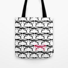 Optometrist Eye Glasses Black Pattern Print Tote Bag