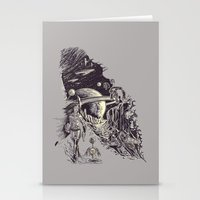 Stationery Card featuring Stranded on Alpha Centauri by Don Lim