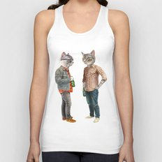 A Cats Night Out Unisex Tank Top