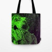 Flashy T-Rex  Tote Bag