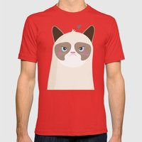 Grumpy Cat Mens Fitted Tee Red SMALL