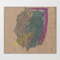 Canvas Print featuring 'Abstract of Your Face' by Tara Bateman