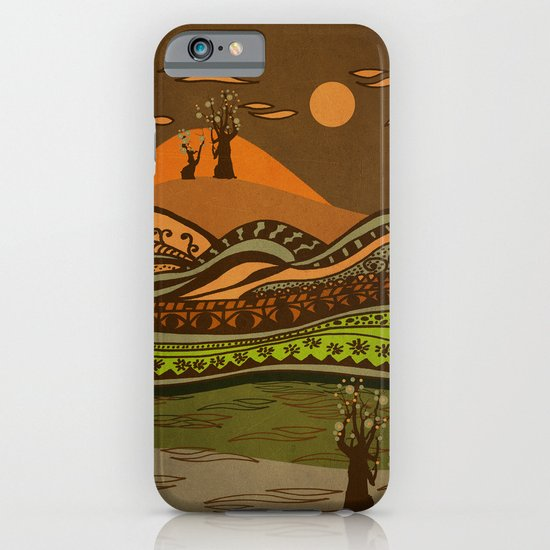 psychedelic mountains iPhone & iPod Case