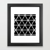 BLACK & WHITE TRIANGLES … Framed Art Print