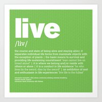 Definition LLL - Live Art Print
