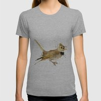 Lark Womens Fitted Tee Athletic Grey SMALL