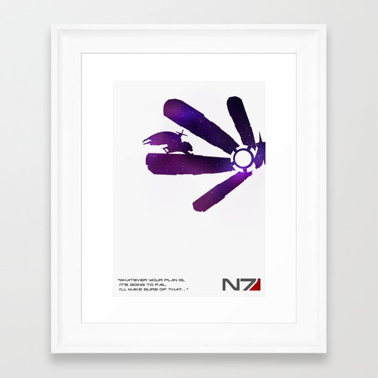 Mass Effect 1 Framed Art Print