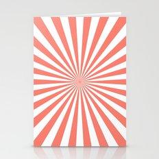 Starburst (Salmon/White) Stationery Cards