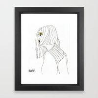 Yellow Eyeshadow Framed Art Print