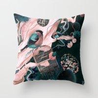 flower egg Throw Pillow