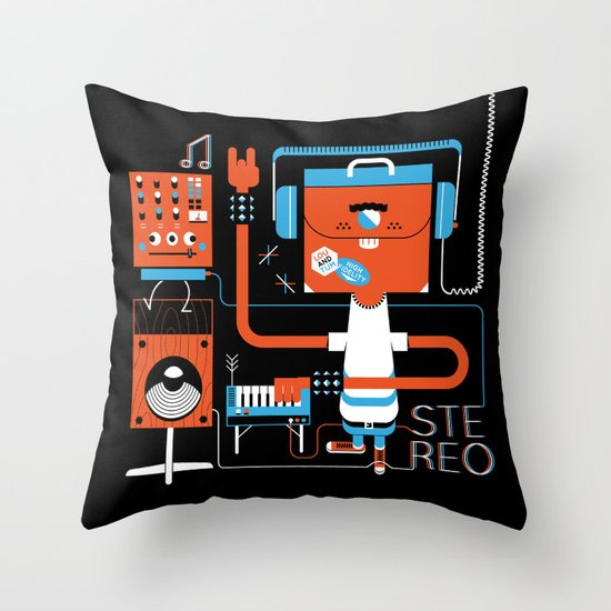 Stereo Found Throw Pillow