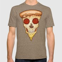 Skull Slice Mens Fitted Tee Tri-Coffee SMALL