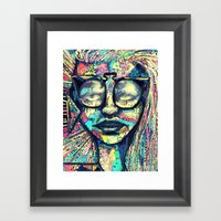 Narley to the Retro Framed Art Print