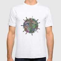 Gas Ball Mens Fitted Tee Ash Grey SMALL