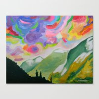 First Snow On The Coquih… Canvas Print