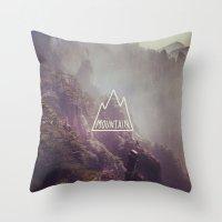 Mountain Lettering Throw Pillow