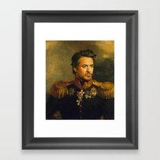 Robert Downey Jr. - replaceface Framed Art Print