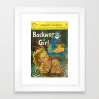 Byron and Backwoods girls Framed Art Print