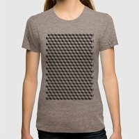 Metatron Cubes Womens Fitted Tee Tri-Coffee SMALL
