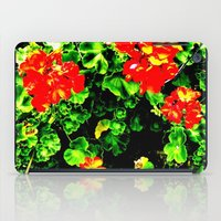 Red Flowers (Edited)  iPad Case