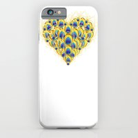 iPhone & iPod Case featuring Peacock Heart by Jenny Lloyd Illustration