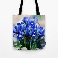 Iris Watercolor Tote Bag