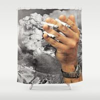 Even The Mountain Smokes Shower Curtain
