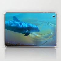 Happy Dolphin Laptop & iPad Skin