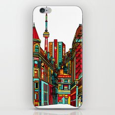 Sound of the city - White background cityscape iPhone & iPod Skin