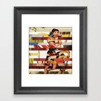 Glitch Pin-Up Redux: Emm… Framed Art Print