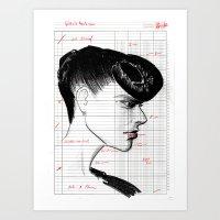 Fashion Hair with Ledger Flair Art Print
