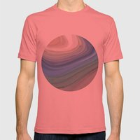 Topography Mens Fitted Tee Pomegranate SMALL