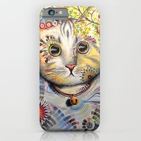 iPhone & iPod Case featuring Smokey ... abstract cat art by Amy Giacomelli