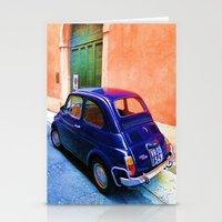 Blue Car 2 Stationery Cards