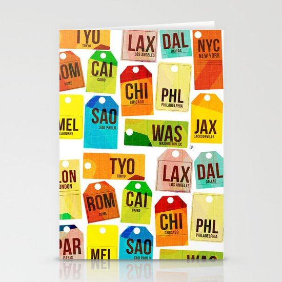 Travel Tags Stationery Card
