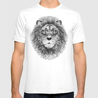 Black+White Lion Mens Fitted Tee White SMALL