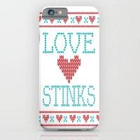 Love Stinks Cross Stitch iPhone 6 Slim Case