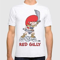 Red Gilly! Mens Fitted Tee Ash Grey SMALL