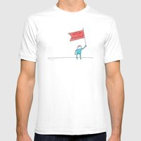 let's be magnificent Mens Fitted Tee White SMALL