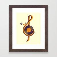 Retro Sound Framed Art Print