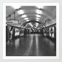 Underground: Waterloo (2) Art Print