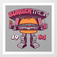 BurgerTRON '84 Art Print