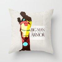 Suit of Armor : Iron Man Throw Pillow