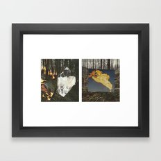 Fire In The Big Woods Diptych Framed Art Print