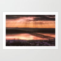 Dundee Railway Bridge Art Print