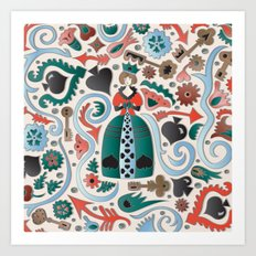 Queen of Spades Art Print