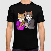 Kitty Cocktails Mens Fitted Tee Black SMALL