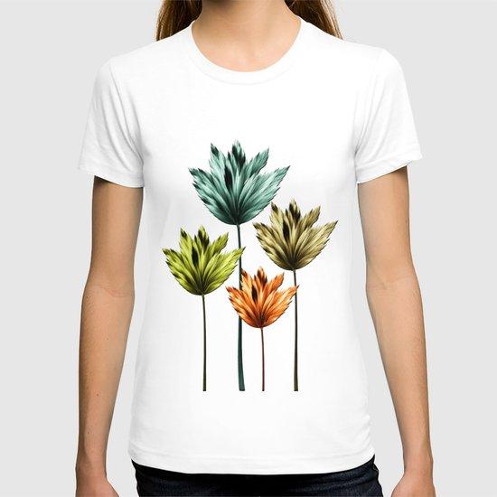Four Fractal Flowers T-shirt