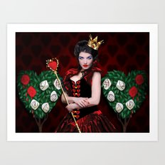 Painting The Roses Red Art Print